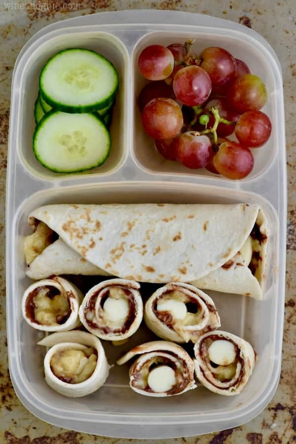 This Banana Nutella Ranch Roll Up makes such a delicious easy lunch box