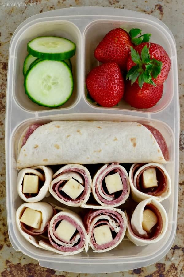 This Salami Roll Up makes such a delicious easy lunch box