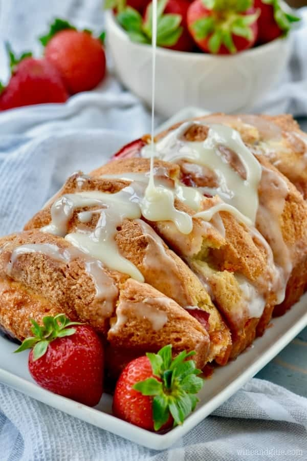 Strawberries and Cream Pull Apart Bread