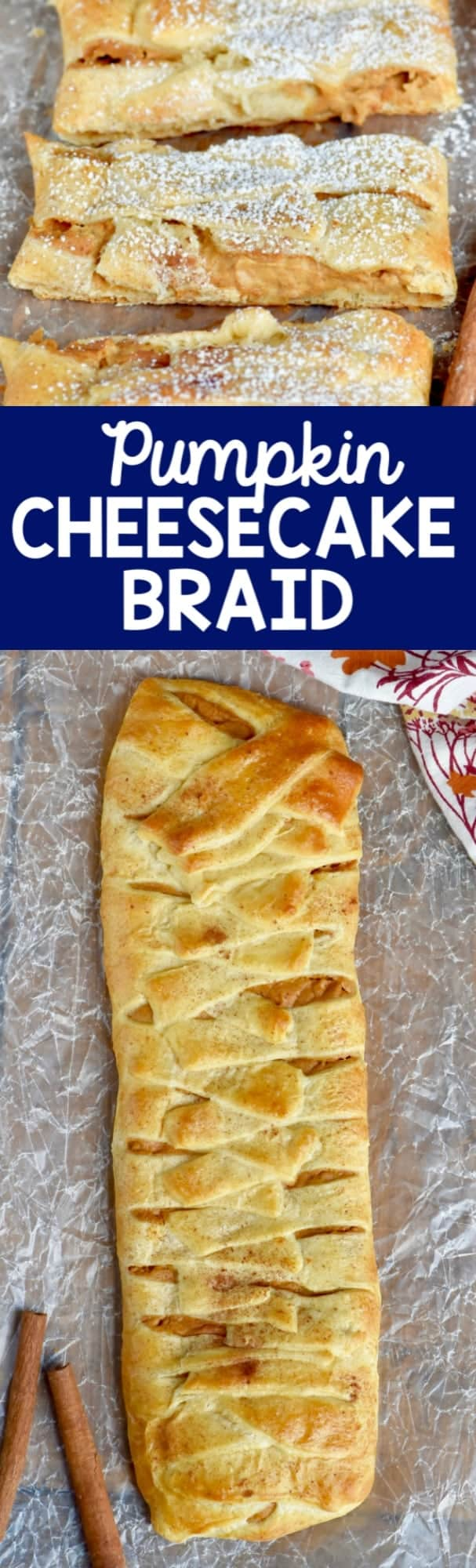 This Pumpkin Cheesecake Braid is easy to throw together but sure to impress, and *totally* delicious!