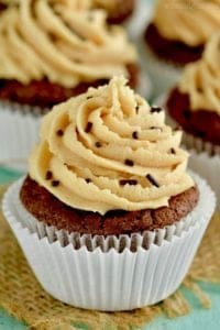 Chocolate Peanut Butter Brownie Cupcakes that are rich, decedent, and perfect!