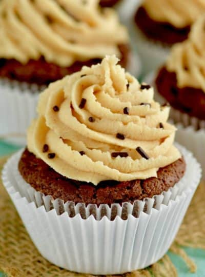 Chocolate Peanut Butter Brownie Cupcakes