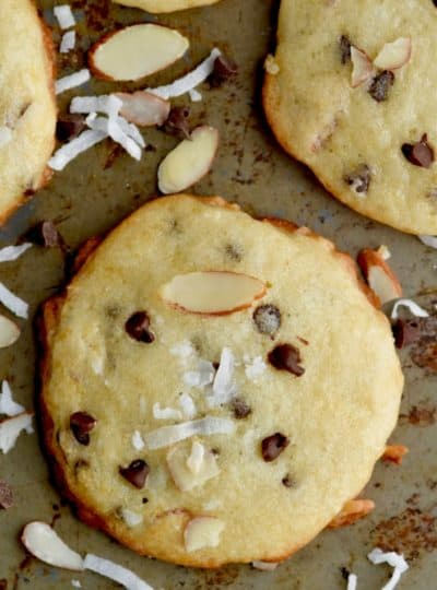 Chocolate Almond Coconut Yogurt Cookies