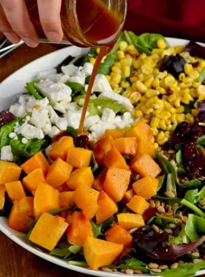 Roasted Fall Salad with Maple Vinaigrette Dressing