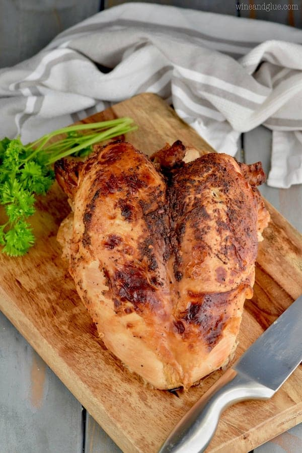 This bone in Oven Ready Cajun Turkey Breast is great on it's own or as the beginning of this soup!