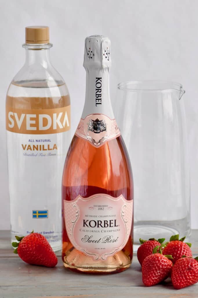ingredients to make rose sangria