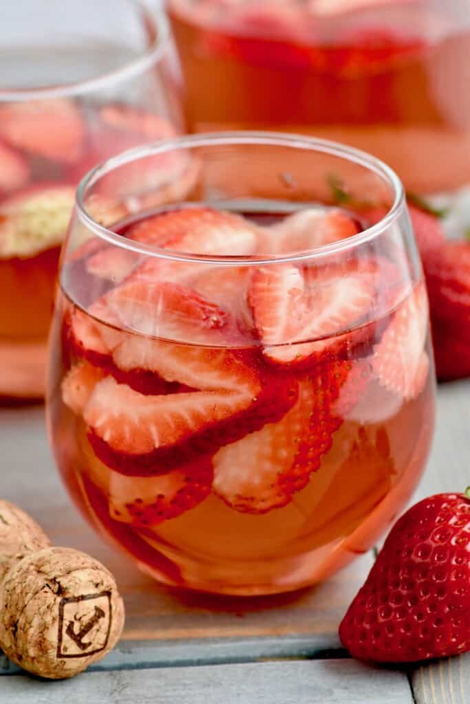 close up of rose sangria