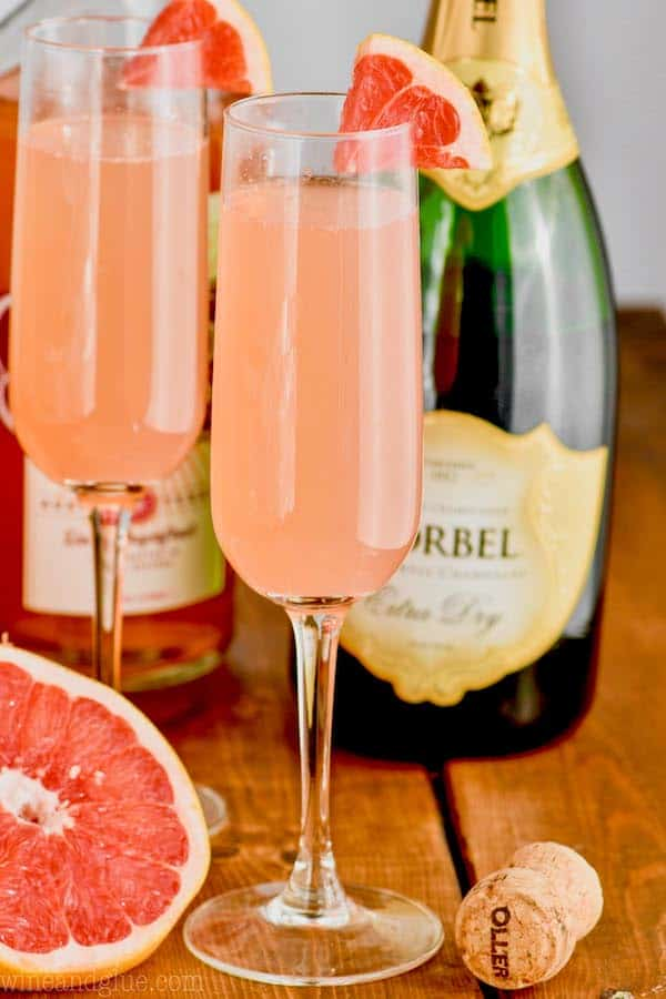 Grapefruit Champagne Cocktail