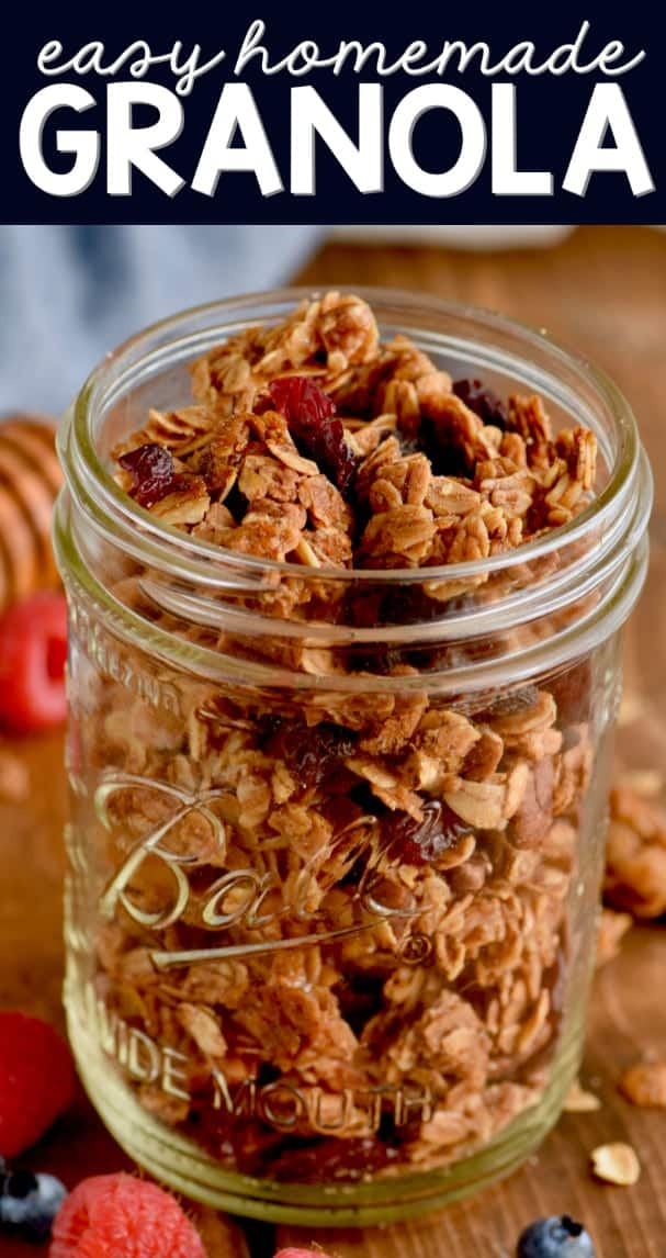 This plain granola recipe is perfect and easy to customize!