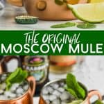 collage of moscow mule photos