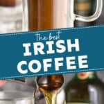 pinterst graphic with Irish coffee photos