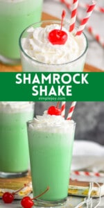 pinterest graphic with collage of shamrock shake photos
