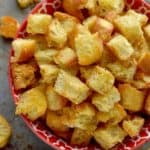 Learn how to make homemade croutons that are so much better than store bought!