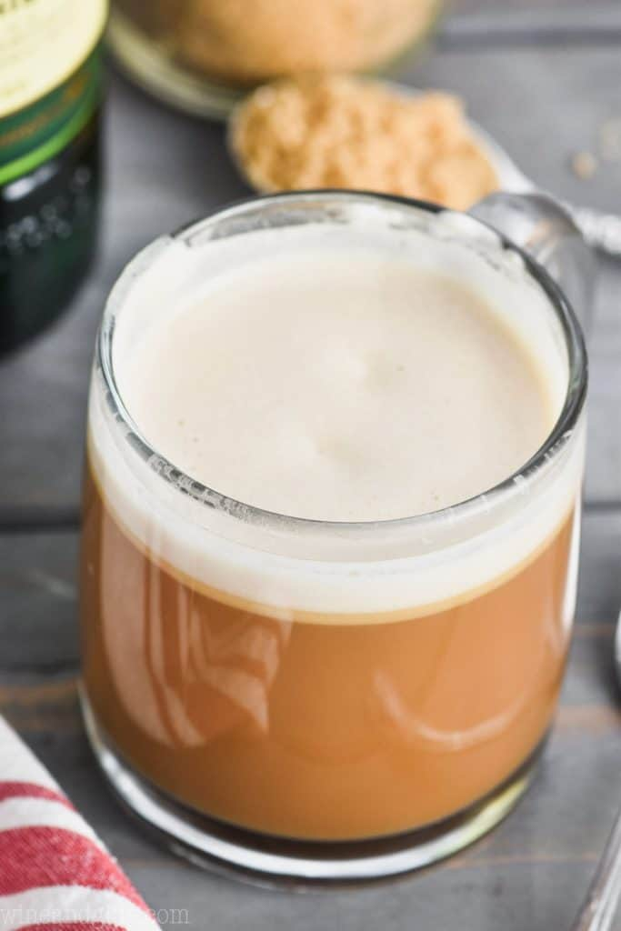 big creamy mug of irish coffee recipe