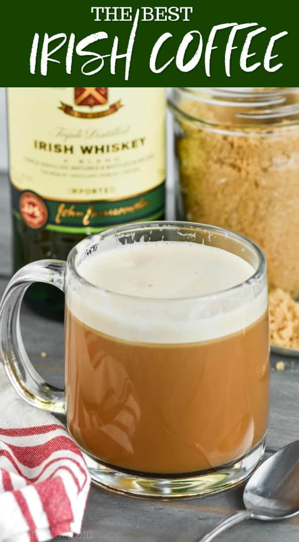 clear glass of irish coffee recipe