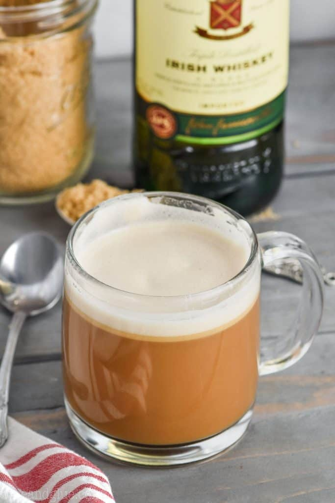 glass of the best irish coffee recipe
