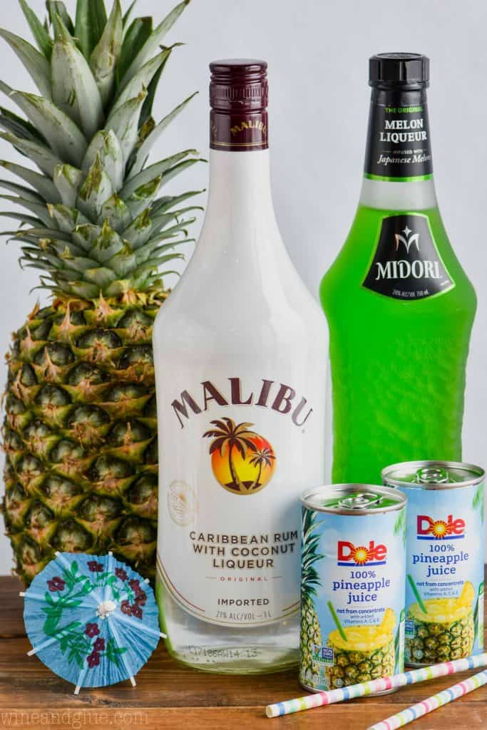 ingredients for a midori splice