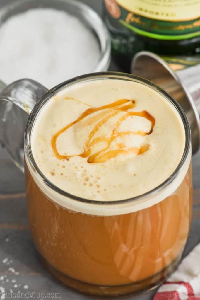 picture of rich cream salted caramel irish coffee recipe