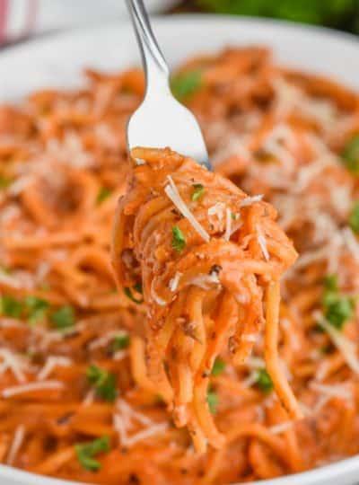 Creamy Instant Pot Spaghetti