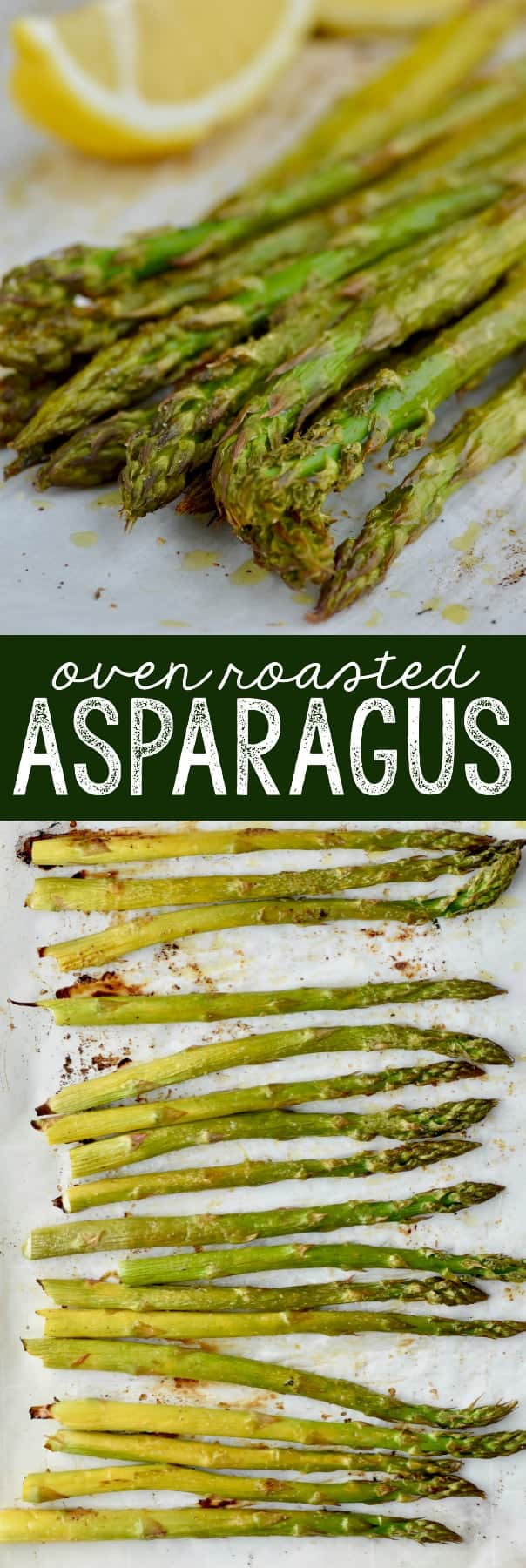 up close oven roasted asparagus with lemons