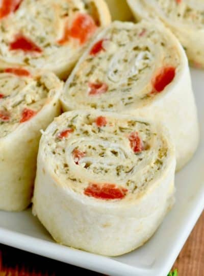Pesto Cream Cheese Pinwheels