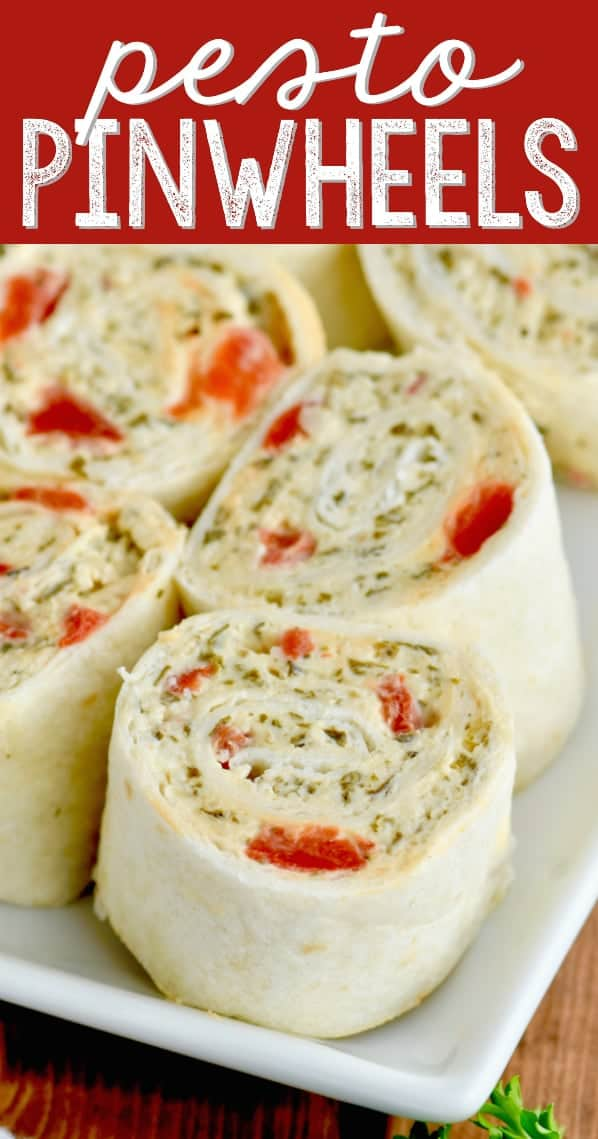 These Pesto Cream Cheese Pinwheels are the perfect appetizer to make. This appetizer recipe comes together quickly, and everything in them goes together so perfectly.