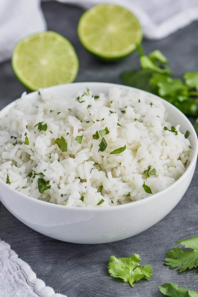 bowl of cilantro lime rice chipotle
