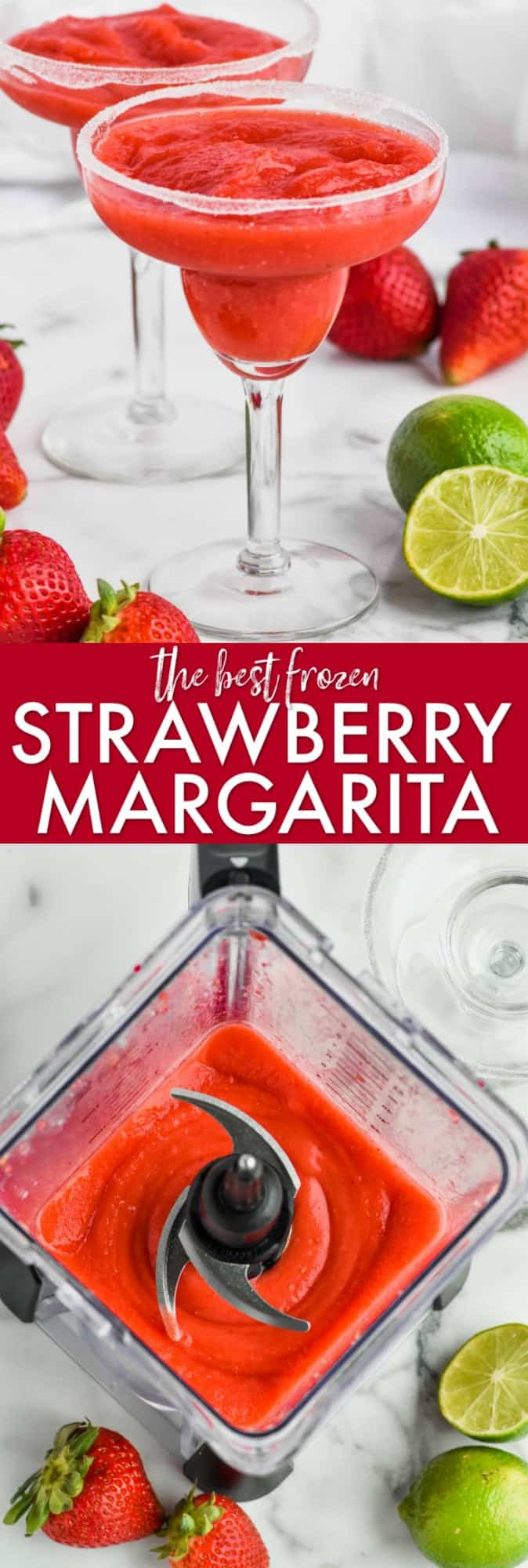 collage of strawberry margarita pictures