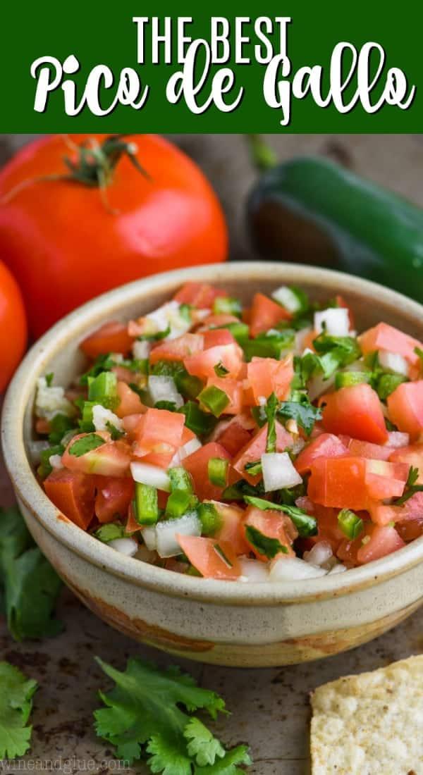 bowl of pico de gallo recipe