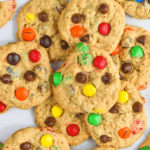 Overhead of a large amount of monster cookies