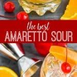 collage of amaretto sour recipe