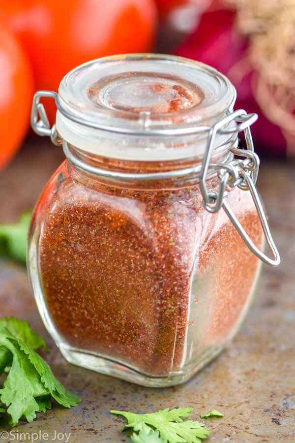 a small jar of fajita seasoning