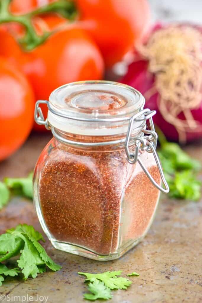 a small bottle of fajita seasoning