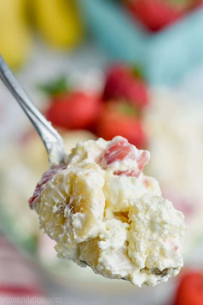 spoonful of strawberry banana fluff recipe