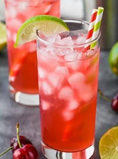 Cherry Lime Vodka Tonic