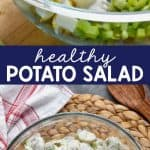 collage of healthy potato salad recipe