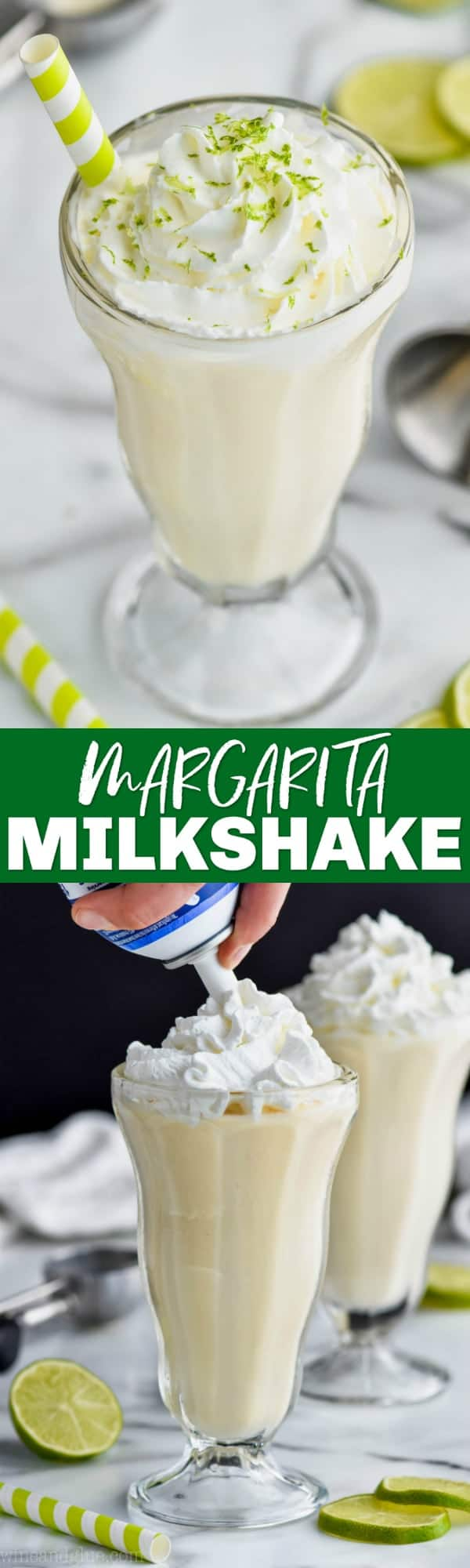 collage of margarita milkshake