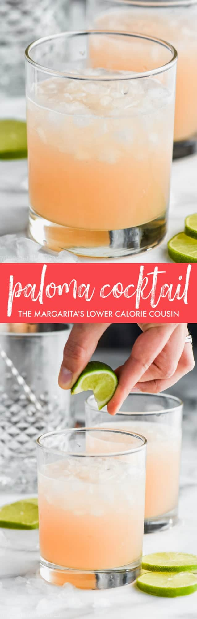 collage of photos of paloma cocktail