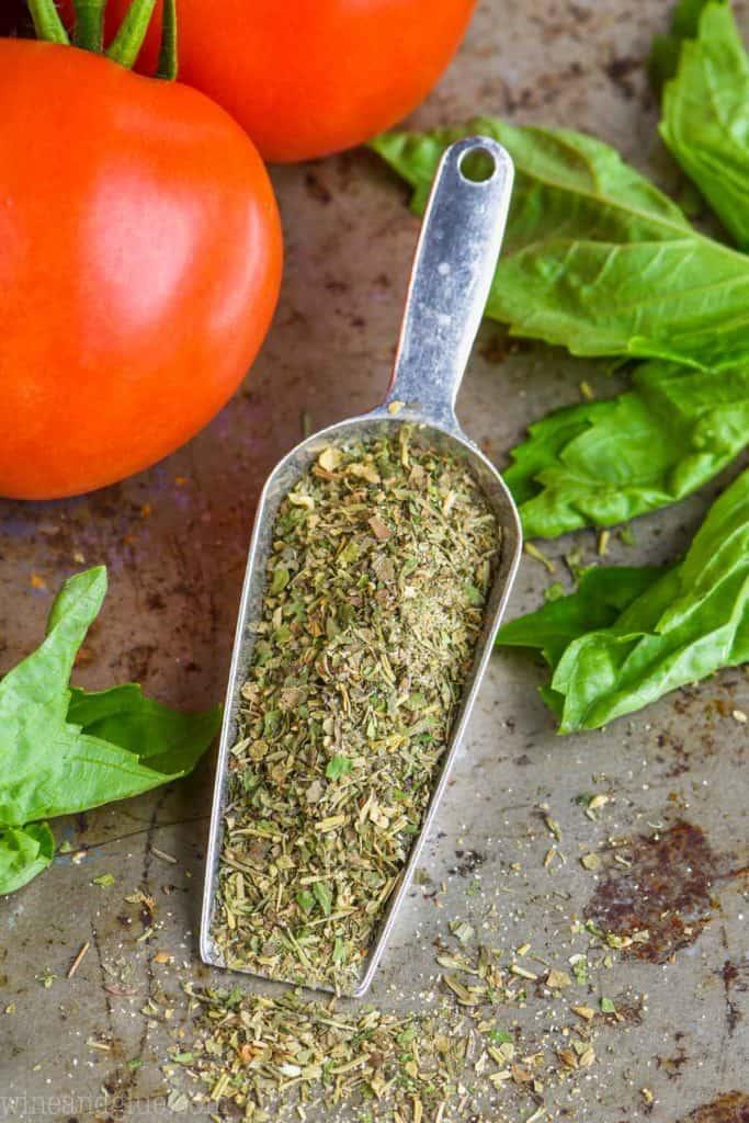 small scoop of italian seasoning to replace italian seasoning packet