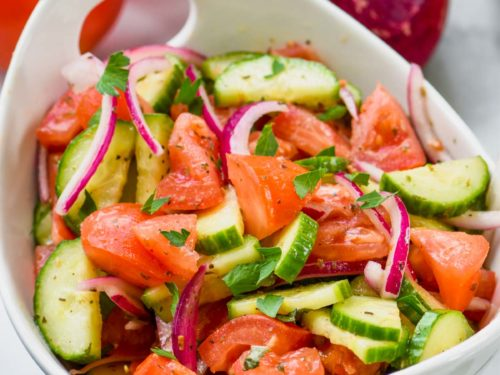 Cucumber Tomato Salad Wine Glue