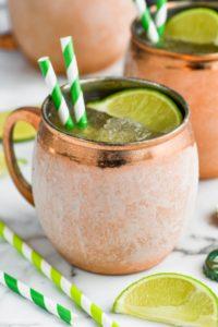 frosty copper mug of frozen moscow mule
