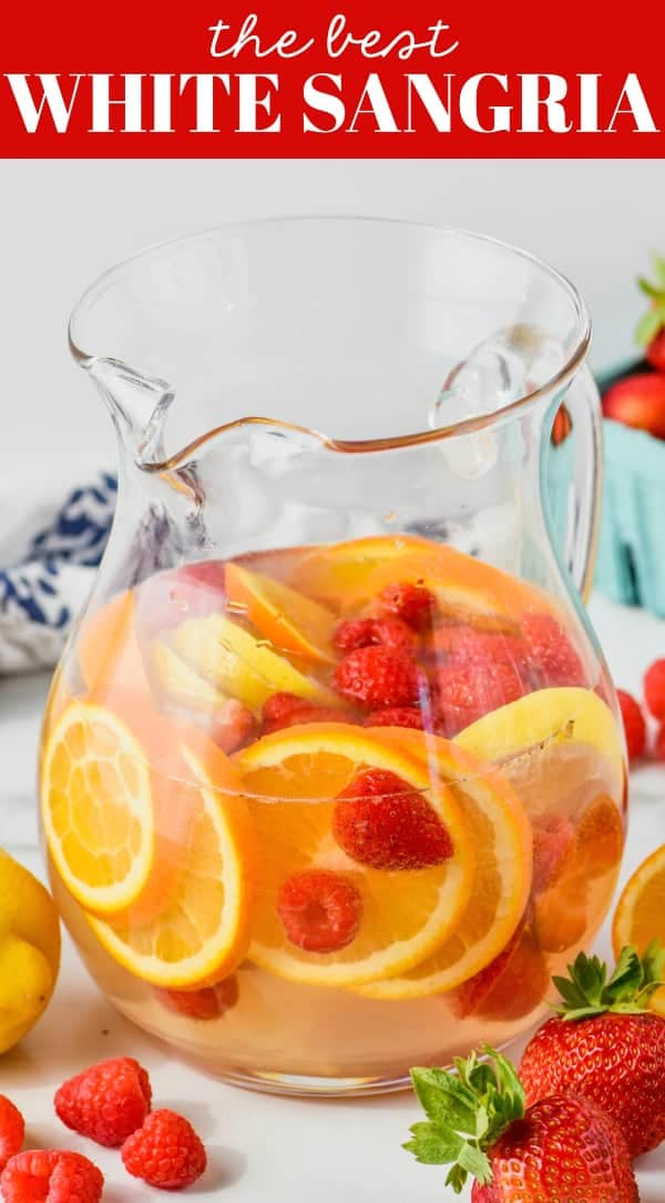 pitcher of white sangria with triple sec