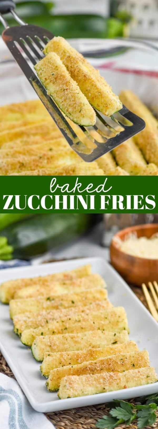 spatula holding zucchini fries recipe