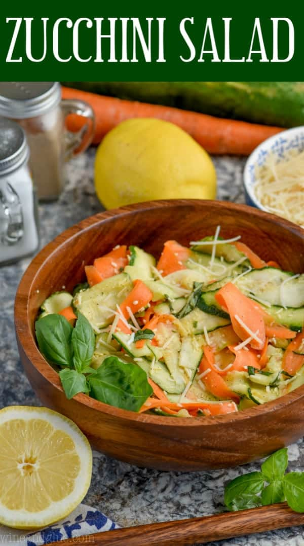 bowl of raw zucchini salad with carrots