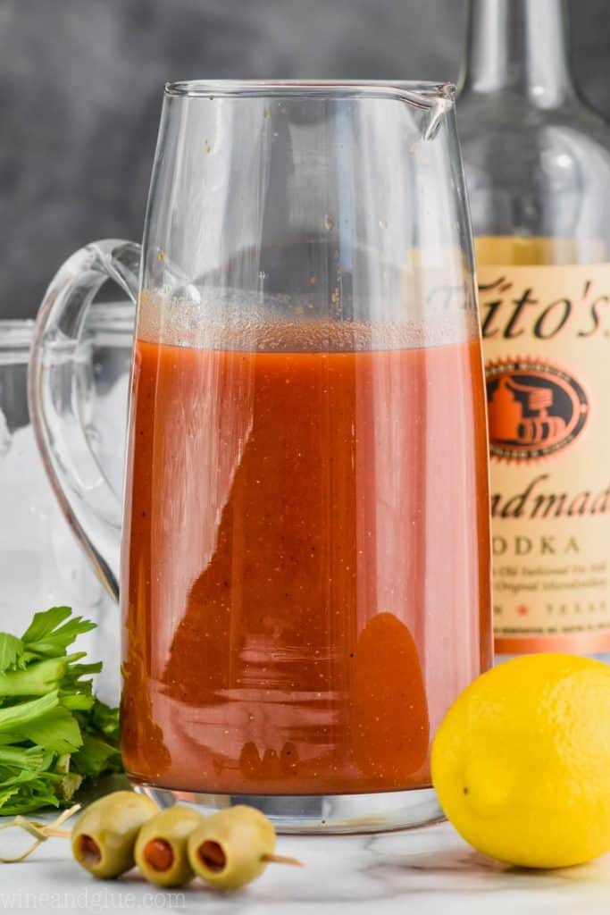 pitcher of the best bloody mix