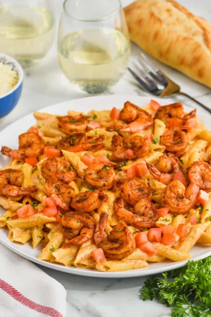 dish of creamy cajun shrimp pasta recipe
