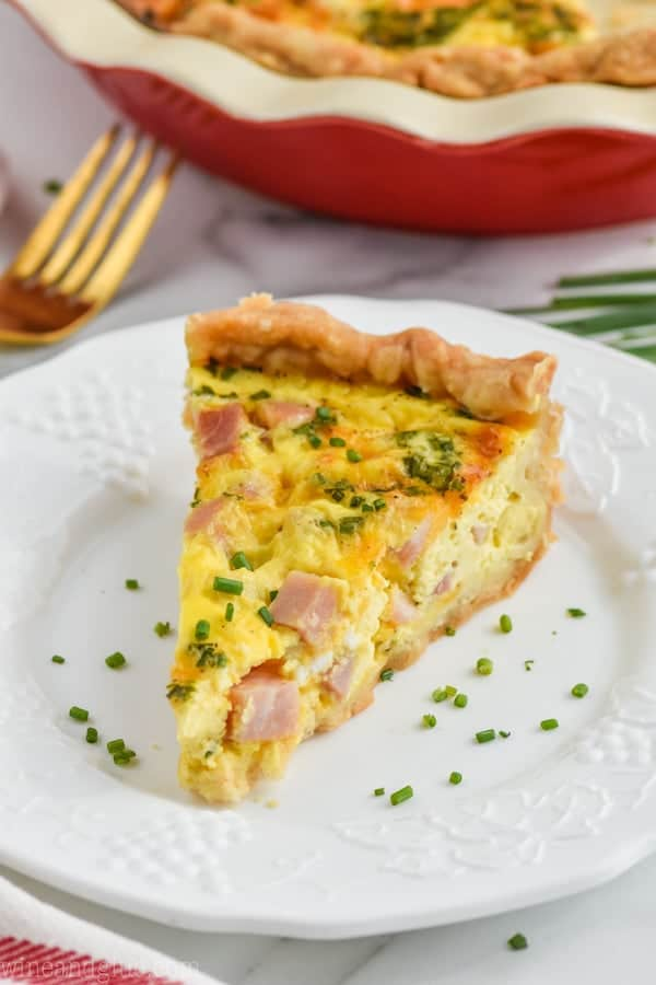 Ham and Cheese Quiche and Why Shelf Stable (UHT) Milk Shouldn't Scare You