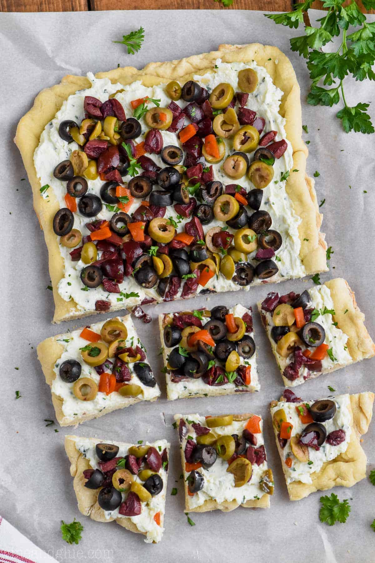 Olive Pizza Appetizer Wine Amp Glue
