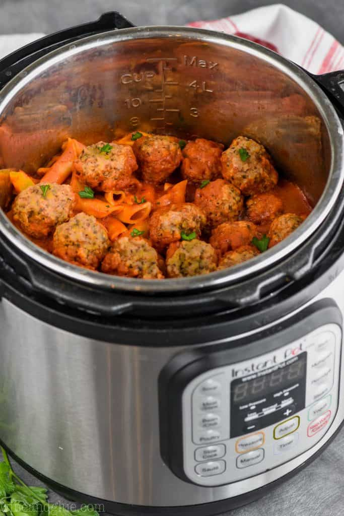 instant pot meatball recipe in a pressure cooker