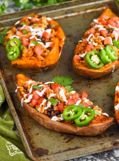 Taco Stuffed Sweet Potatoes